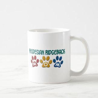 RHODESIAN RIDGEBACK Mom Paw Print 1 Basic White Mug