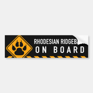 Rhodesian Ridgeback On Board Bumper Sticker