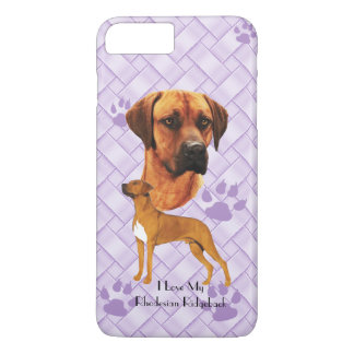 Rhodesian Ridgeback on Lavender Weave 7+ iPhone 7 Plus Case