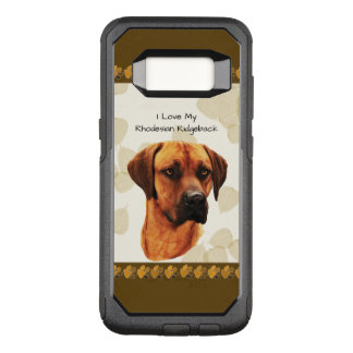 Rhodesian Ridgeback on Tan Leaves OtterBox Commuter Samsung Galaxy S8 Case