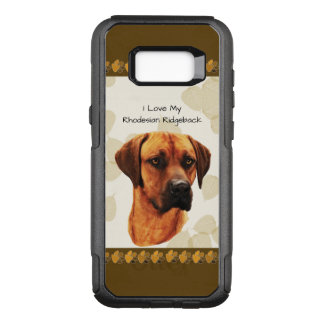 Rhodesian Ridgeback on Tan Leaves OtterBox Commuter Samsung Galaxy S8+ Case