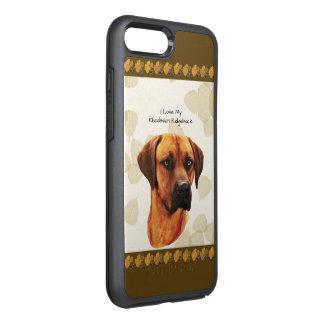 Rhodesian Ridgeback on Tan Leaves OtterBox Symmetry iPhone 7 Plus Case