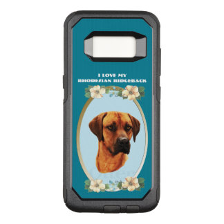 Rhodesian Ridgeback on Teal Floral OtterBox Commuter Samsung Galaxy S8 Case