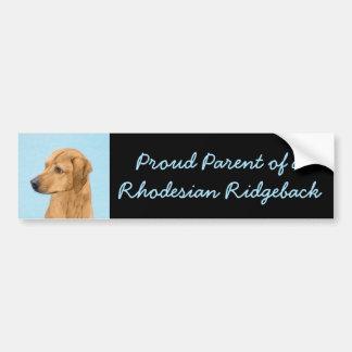 Rhodesian Ridgeback Painting - Original Dog Art Bumper Sticker