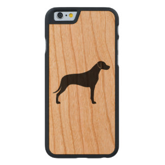 Rhodesian Ridgeback Silhouette Carved Cherry iPhone 6 Case
