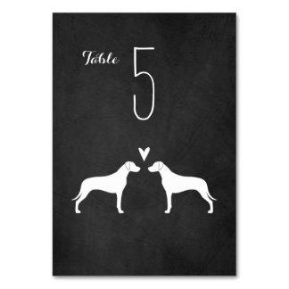 Rhodesian Ridgeback Silhouettes Wedding Table Card