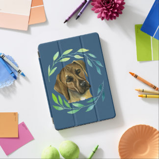 Rhodesian Ridgeback with a Wreath Watercolor iPad Air Cover