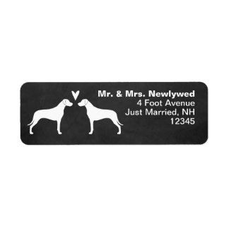 Rhodesian Ridgebacks Love Return Address Return Address Label