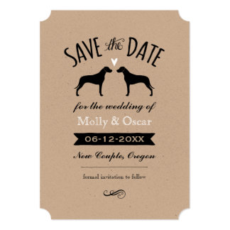 Rhodesian Ridgebacks Wedding Save the Date Card