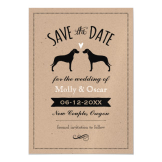 Rhodesian Ridgebacks Wedding Save the Date Magnetic Invitations