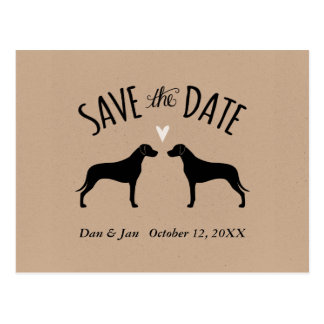 Rhodesian Ridgebacks Wedding Save the Date Postcard