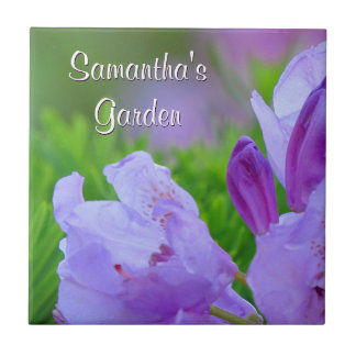 Rhododendron After the Rain Personalized Garden Tile