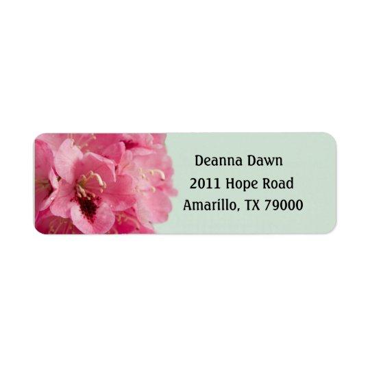 Rhododendron Elegant Floral Label Return Address Label