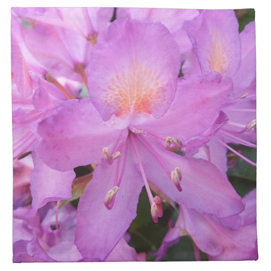 Rhododendron Flower Cloth Napkins