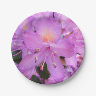 Rhododendron Flower Paper Plates