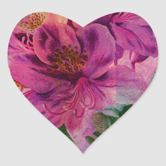 RHODODENDRON HEART STICKER