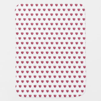 Rhododendron Hearts Baby Blanket