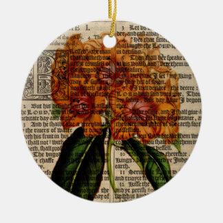 Rhododendron javanicum Flower Ceramic Ornament