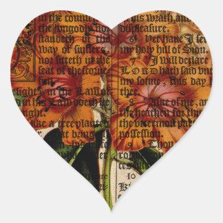Rhododendron javanicum Flower Heart Sticker