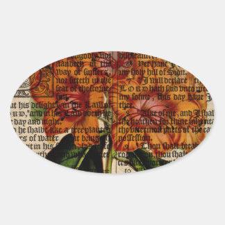 Rhododendron javanicum Flower Oval Sticker
