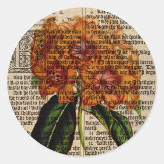 Rhododendron javanicum Flower Round Sticker