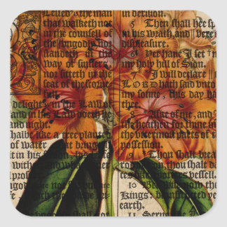 Rhododendron javanicum Flower Square Sticker
