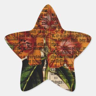 Rhododendron javanicum Flower Star Sticker