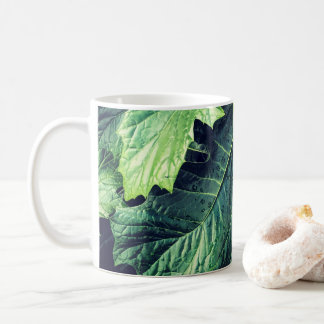 Rhododendron Leaves With Dew Drops Mug