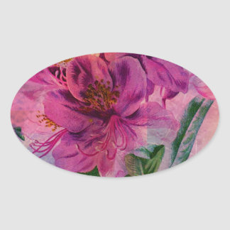 RHODODENDRON OVAL STICKER