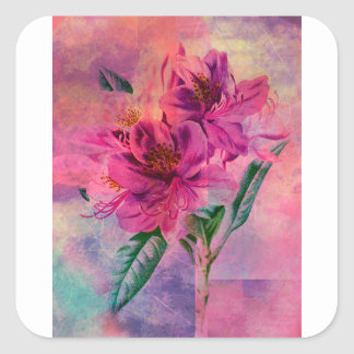 RHODODENDRON SQUARE STICKER
