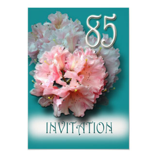 Rhododendrons 85th Birthday Party Invitation