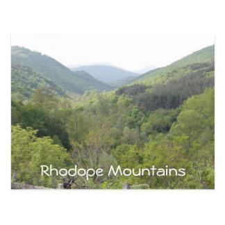 Rhodope Mountains Postcard