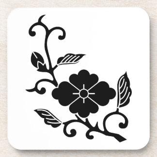 Rhombic chinese flower branch beverage coasters