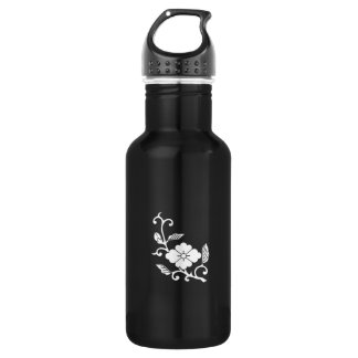 Rhombic chinese flower in circle 532 ml water bottle
