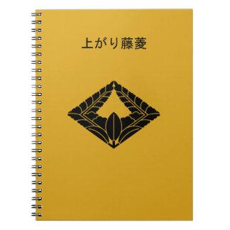 Rhombic climbing wisteria notebook