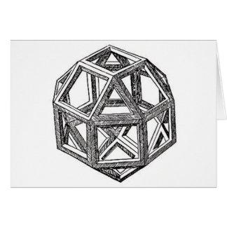 Rhombicuboctahedron, Leonardo Da Vinci Card