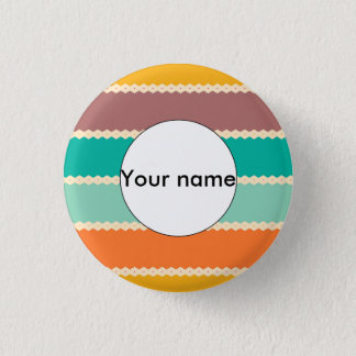Rhombus rows abstract design 1 inch round button