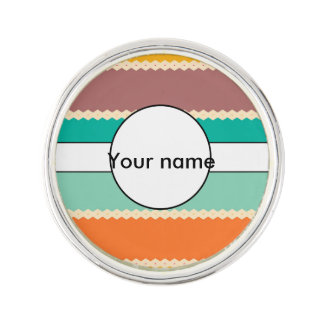 Rhombus rows abstract design lapel pin