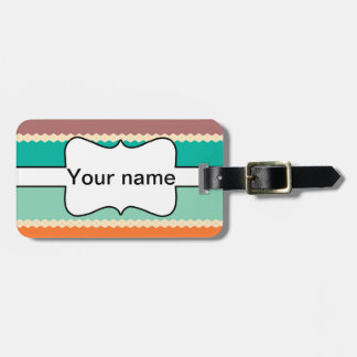 Rhombus rows abstract design luggage tag