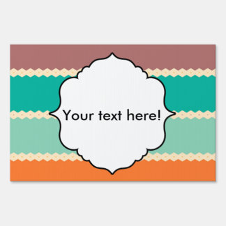 Rhombus rows abstract design sign