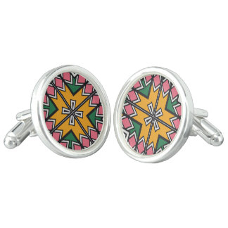 Rhombus squares and a cross cufflinks