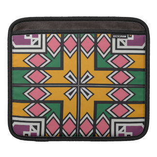 Rhombus squares and a cross iPad sleeve