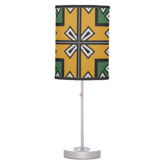 Rhombus squares and a cross table lamp