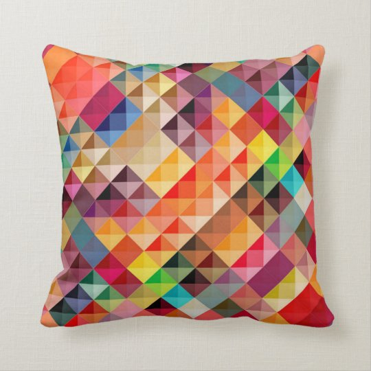 Rhombuses of colors throw pillow