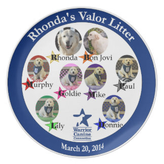 Rhonda's Valor Litter collectible plate