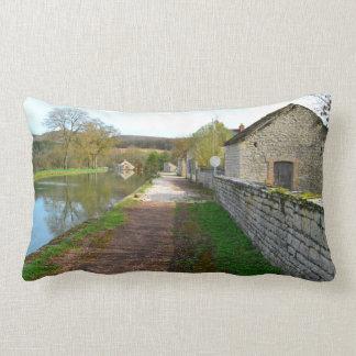 Rhône-Alpes canal French countryside Lumbar Pillow