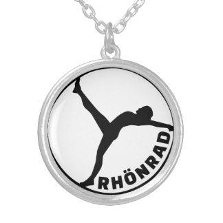 Rhönrad gymwheel silver plated necklace