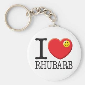 Rhubarb Keychain