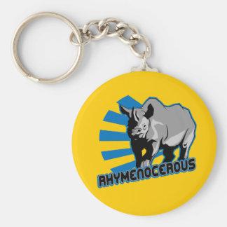 rhymenocerous hiphopapotamus keychain