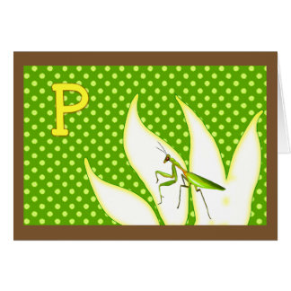 Rhymes for Bugs A-Z (P for Praying Mantis) Greeting Card